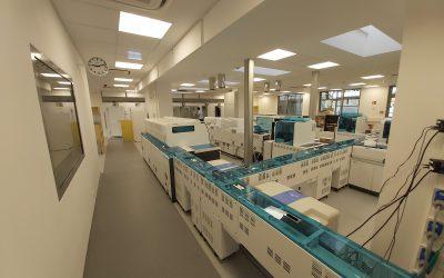 Das neue Zentrallabor im Nordwestkrankenhaus in Frankfurt geht in Betrieb.